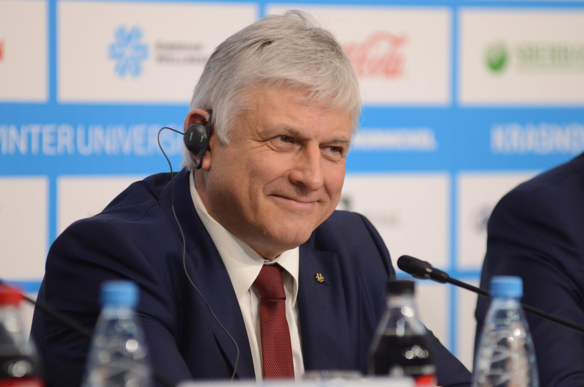 FISU's secretary general and chief executive, Eric Saintrond, discussed how the Universiade could be used as a launchpad by Krasnoyarsk to host larger events ©Krasnoyarsk 2019