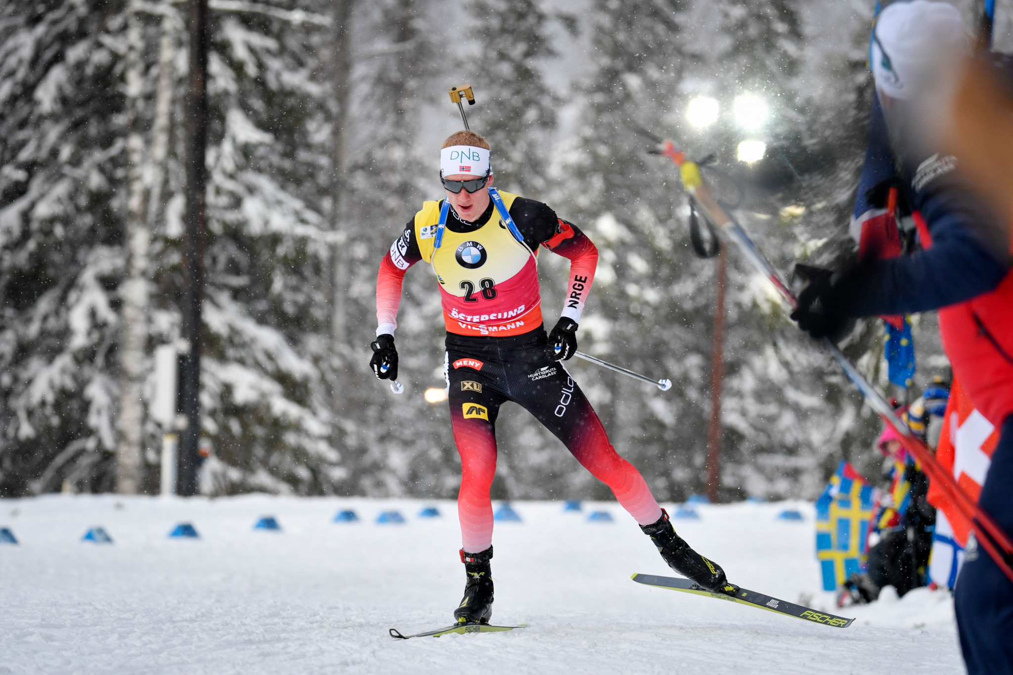Norway's Johannes Thingnes Bø secured his second gold medal of the International Biathlon Union World Championships ©Getty Images