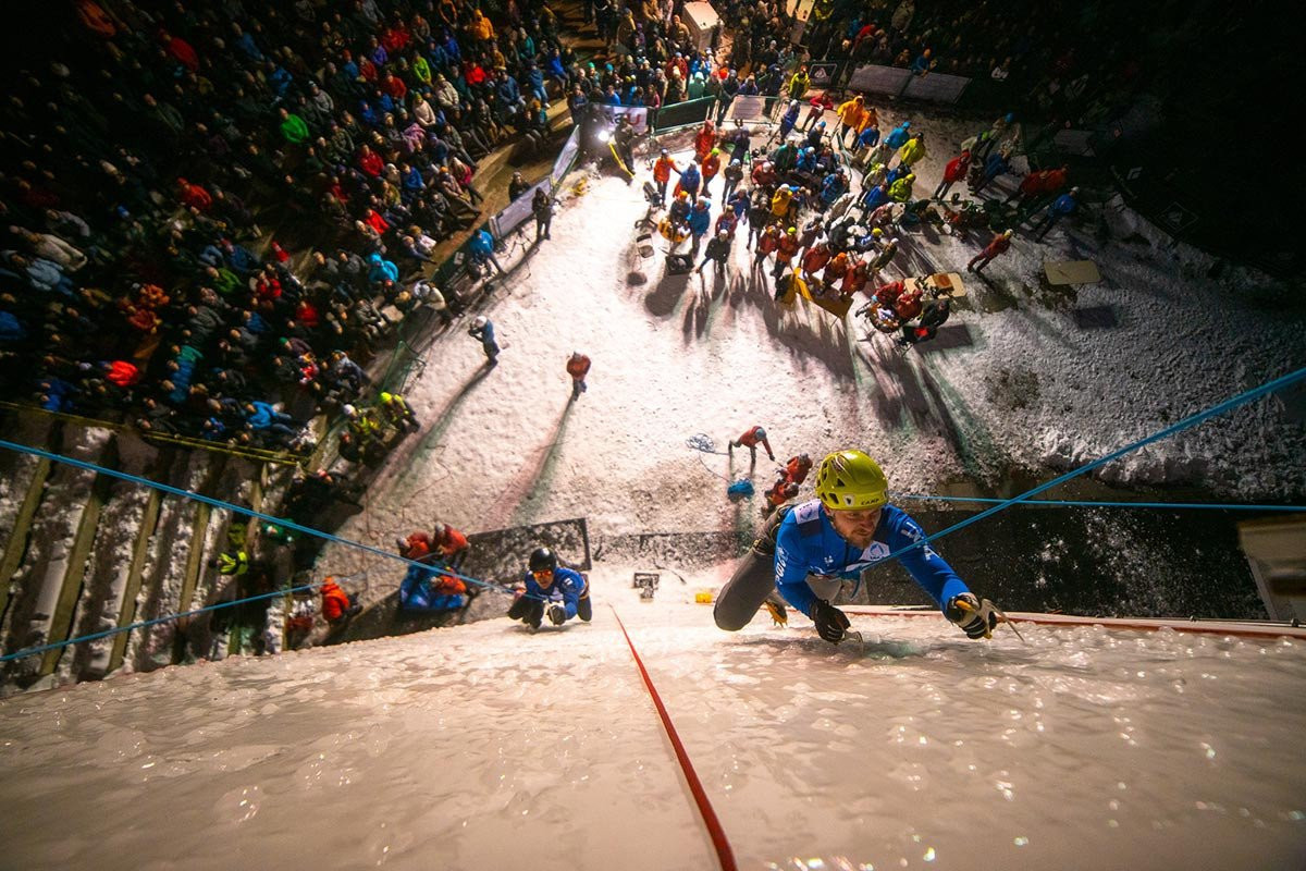 Home favourite Kuzovlev through to lead final at UIAA Ice Climbing World Championships in Kirov