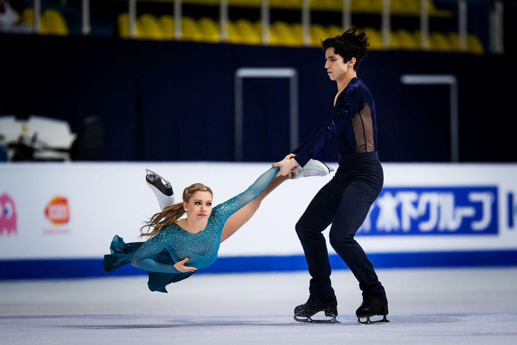 Canada's Marjorie Lajoie and Zachary Lagha won the world junior figure skating ice dance title in Zagreb tonight ©ISU
