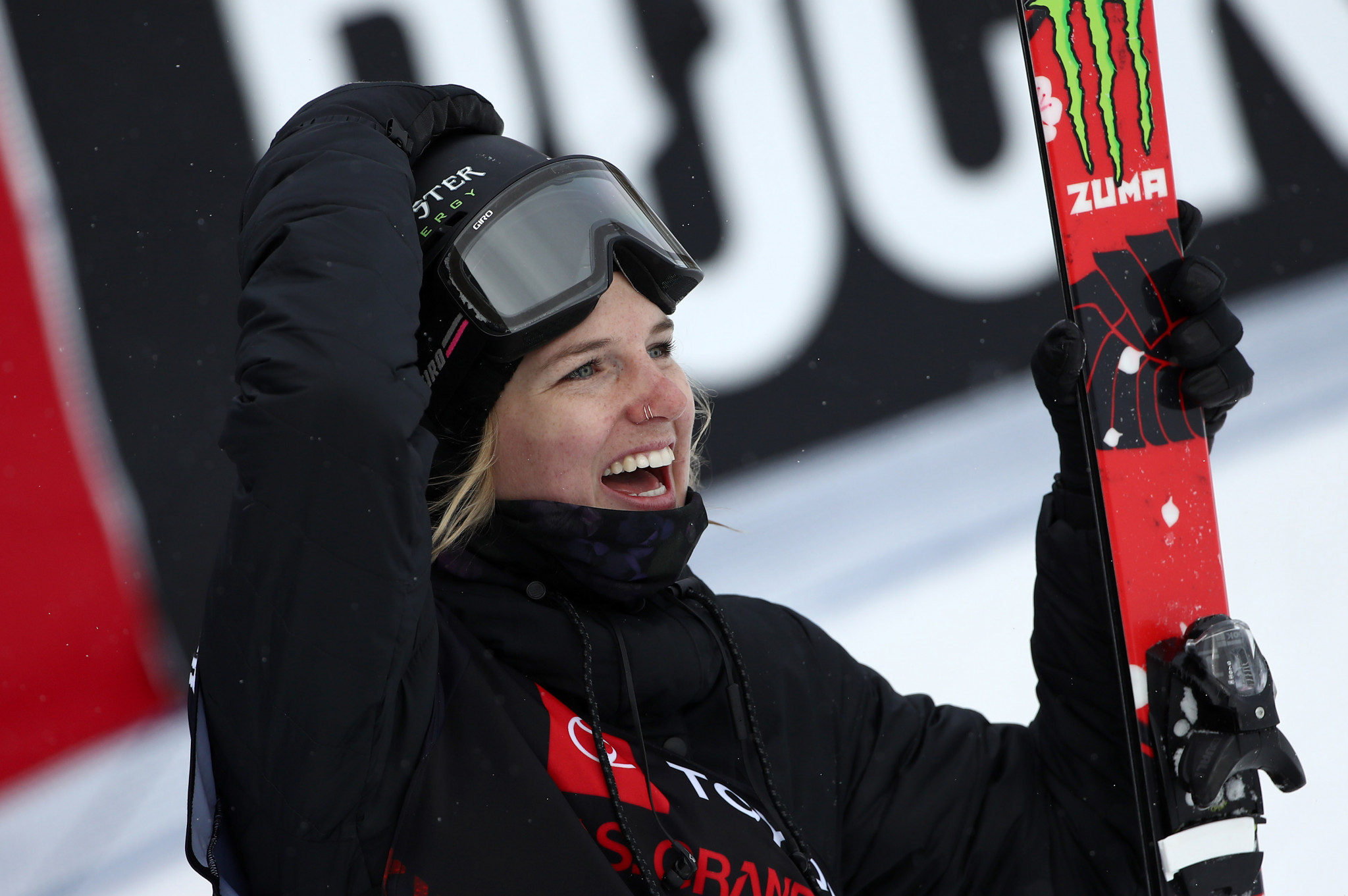 Olympic champion Cassie Sharpe won the women's ski halfpipe title on a bumper day of action in Mammoth Mountain ©Getty Images