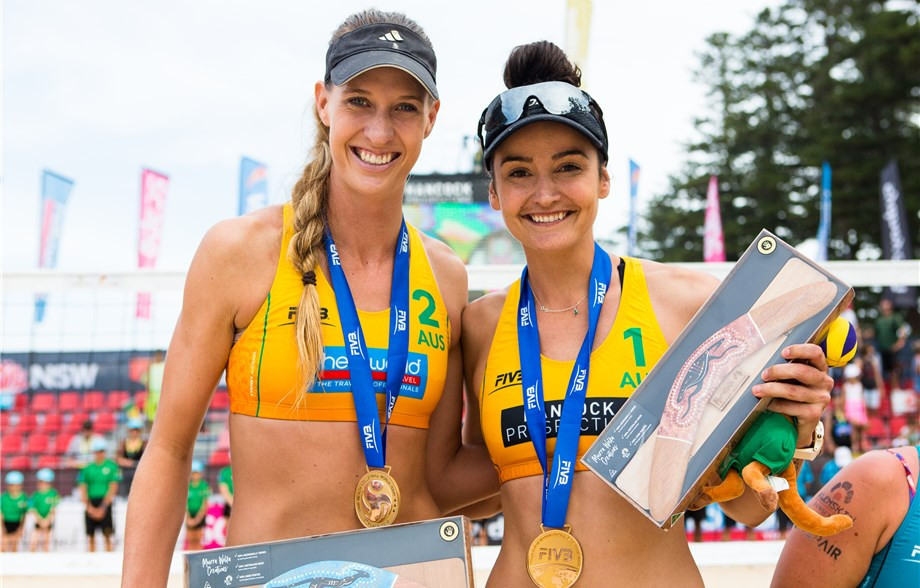 Australian qualifiers Nicole Laird and Becchara Palmer won the FIVB Beach Volleyball World Tour title in Sydney ©FIVB