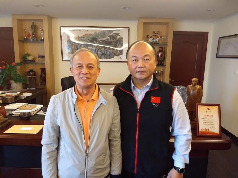 The dream team of Chen Wenbin, right, and master scientist Cao Wenyuan ©CWF