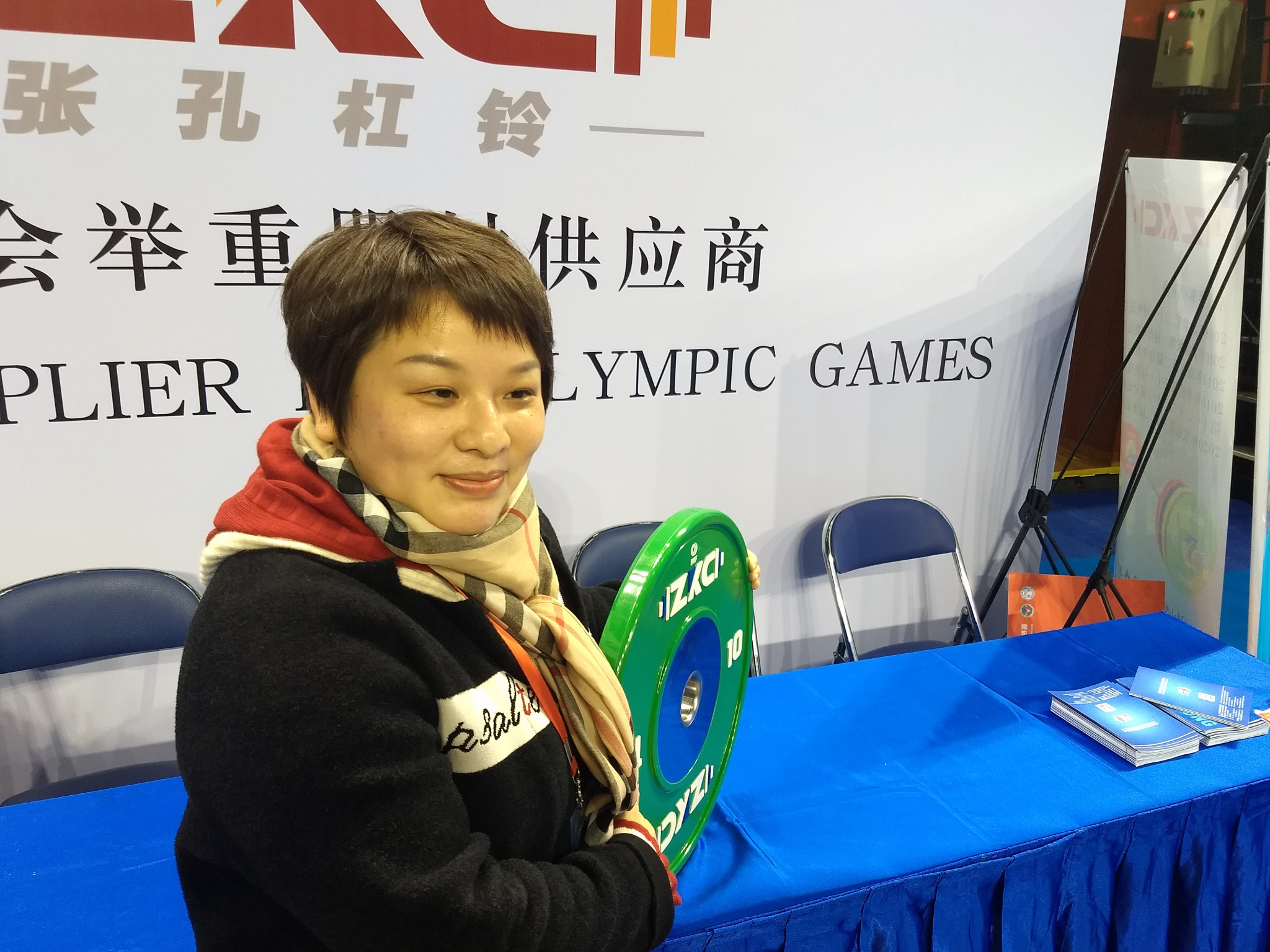 Yang Xia, China's first female gold medallist in 2000, is now a senior sports administrator ©CWF