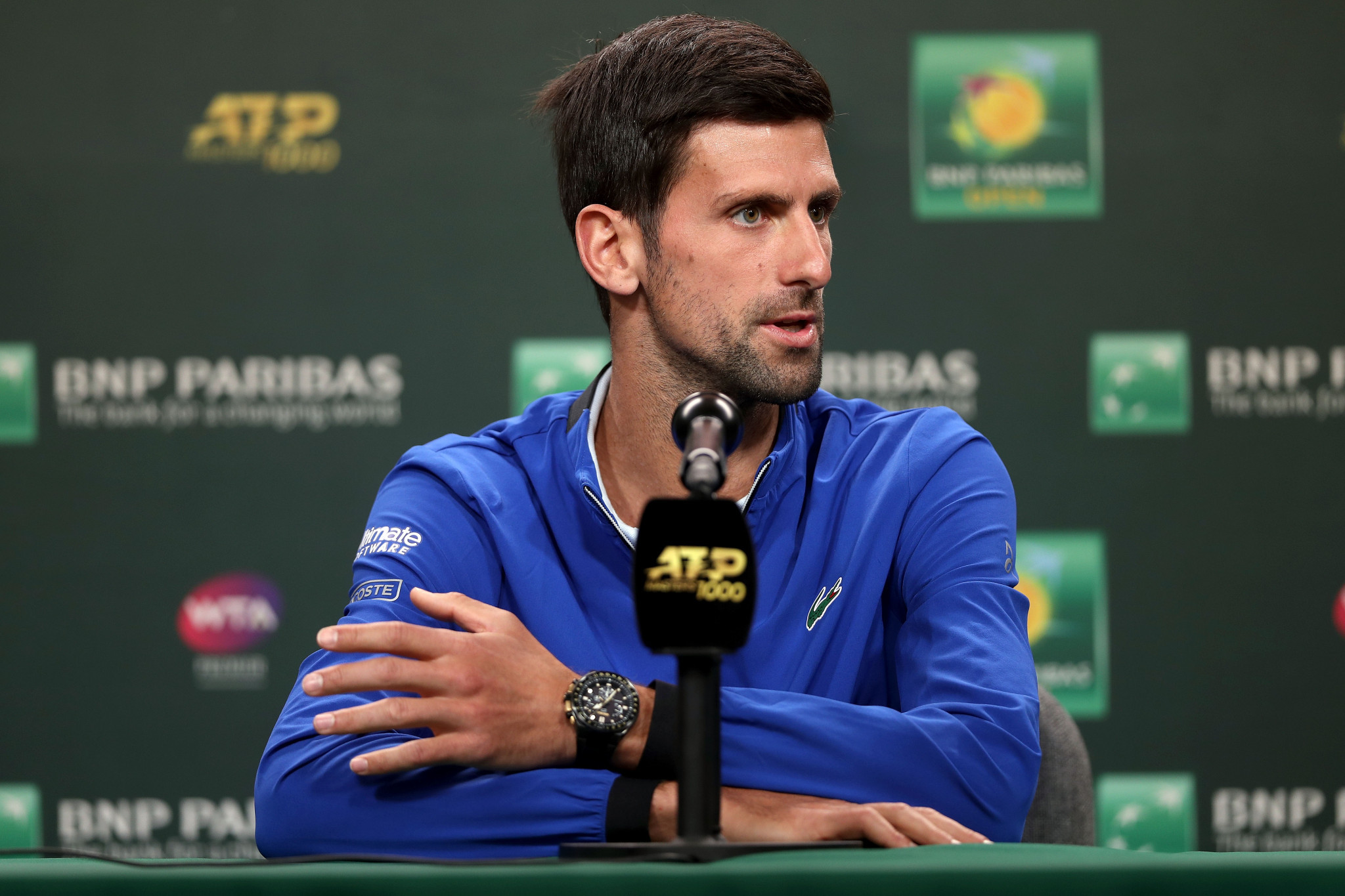 Speaking in Indian Wells Novak Djokovic refused to say whether he backed Chris Kermode's removal ©Getty Images