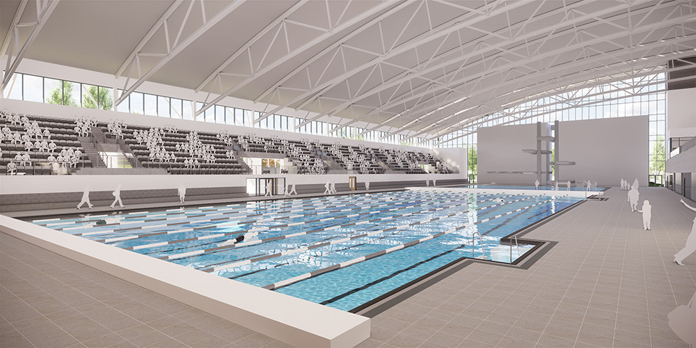 The pool will feature 1,000 permanent spectator seats ©Sandwell Council