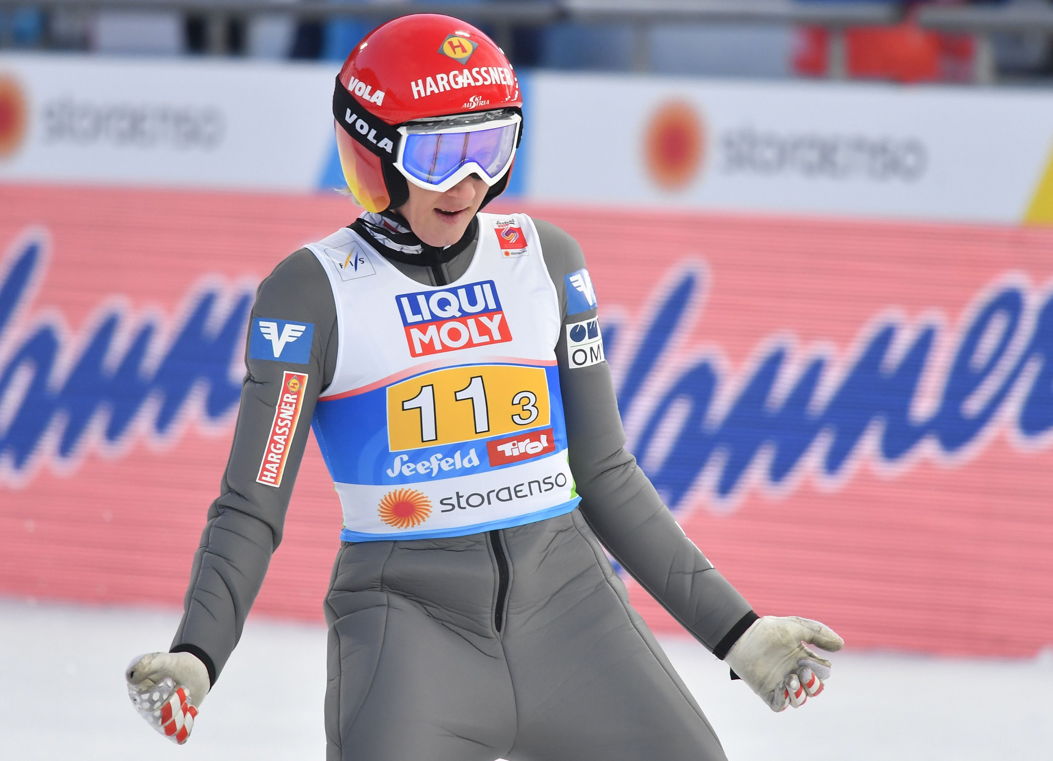 Daniela Iraschko-Stolz won the first event of the inaugural women's Raw Air in Oslo ©Getty Images