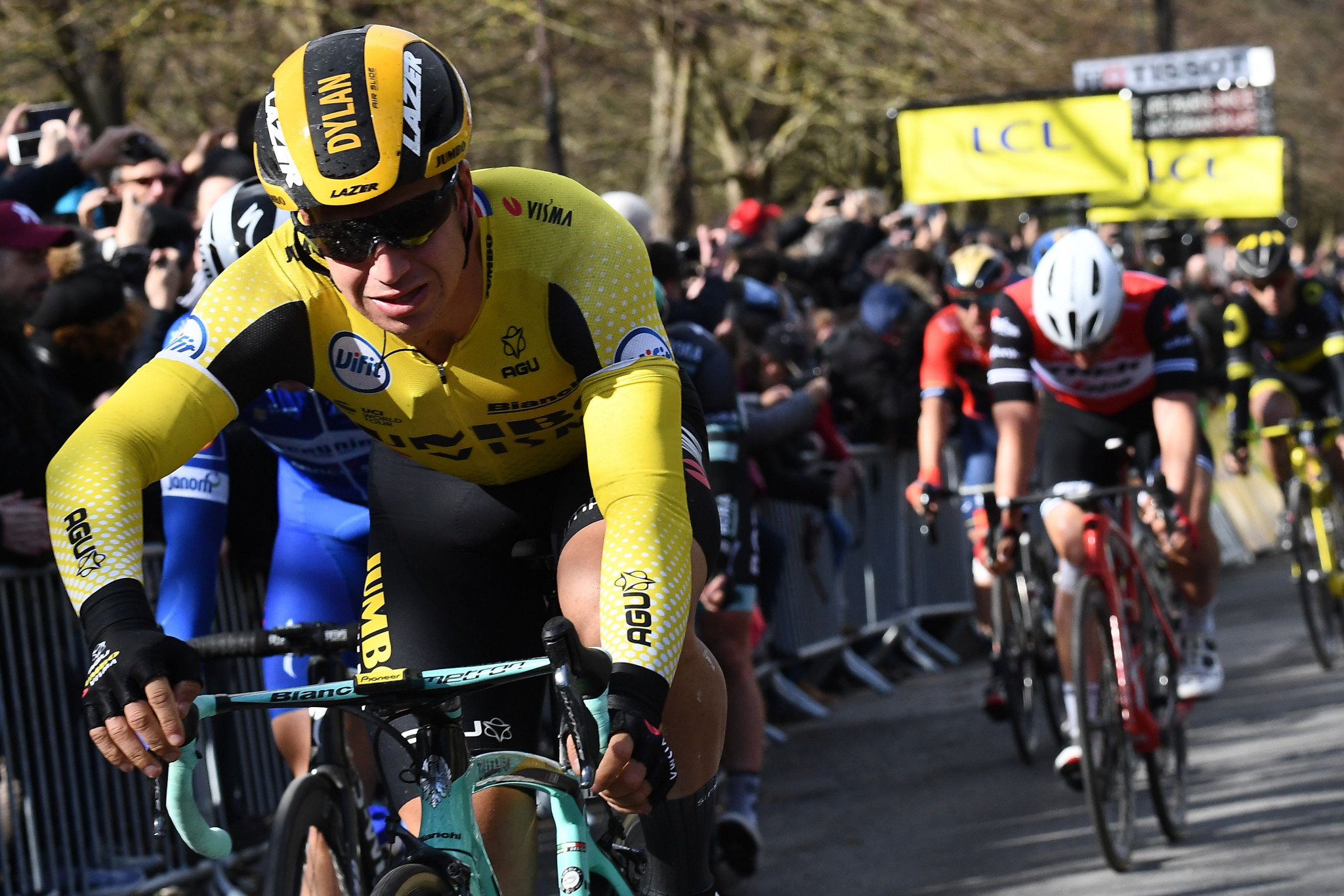 Dylan Groenewegen won the opening stage of the Paris-Nice 2019 race today ©Getty Images