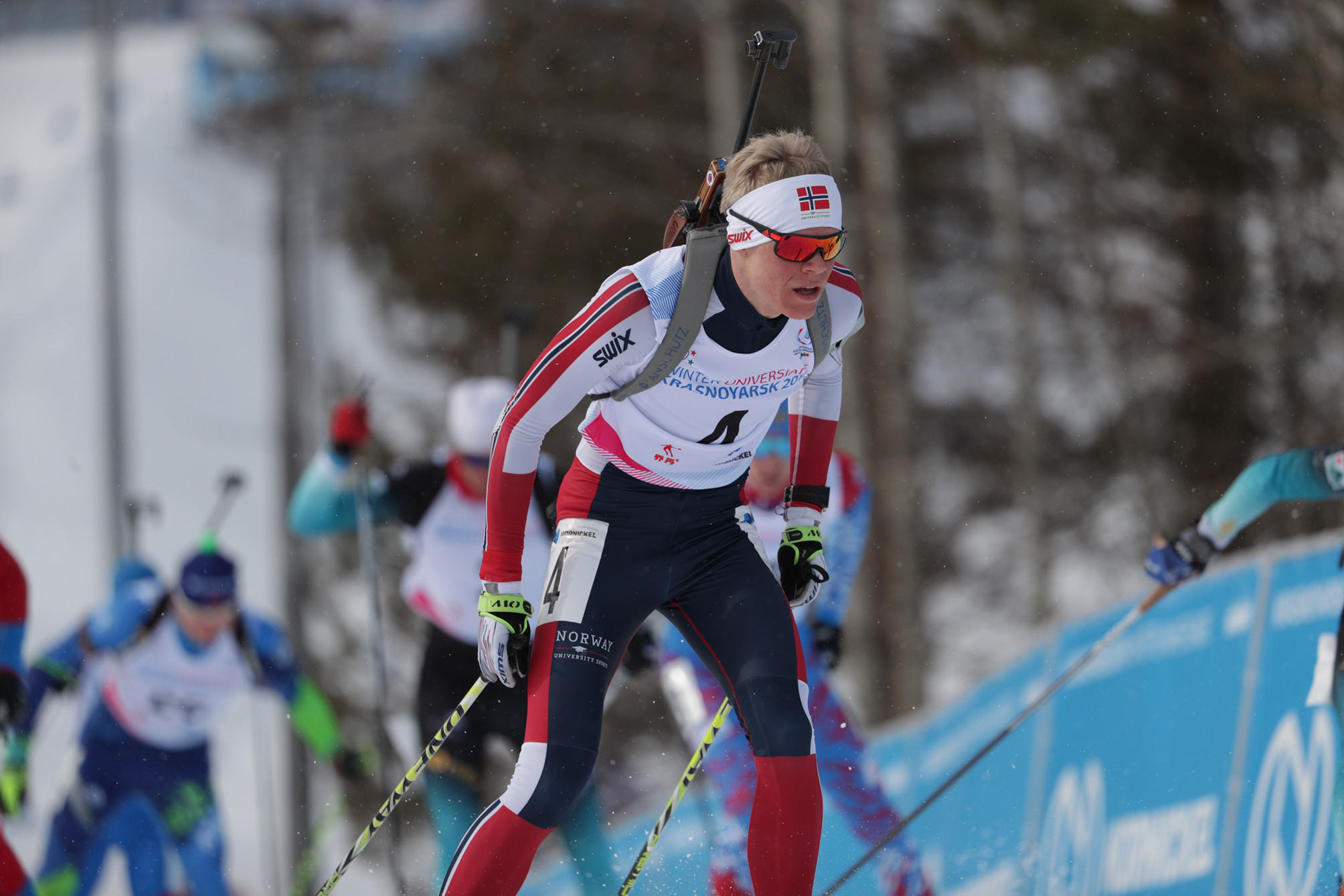 Norwegian wins mass start to prevent Russian gold in every biathlon event at Krasnoyarsk 2019