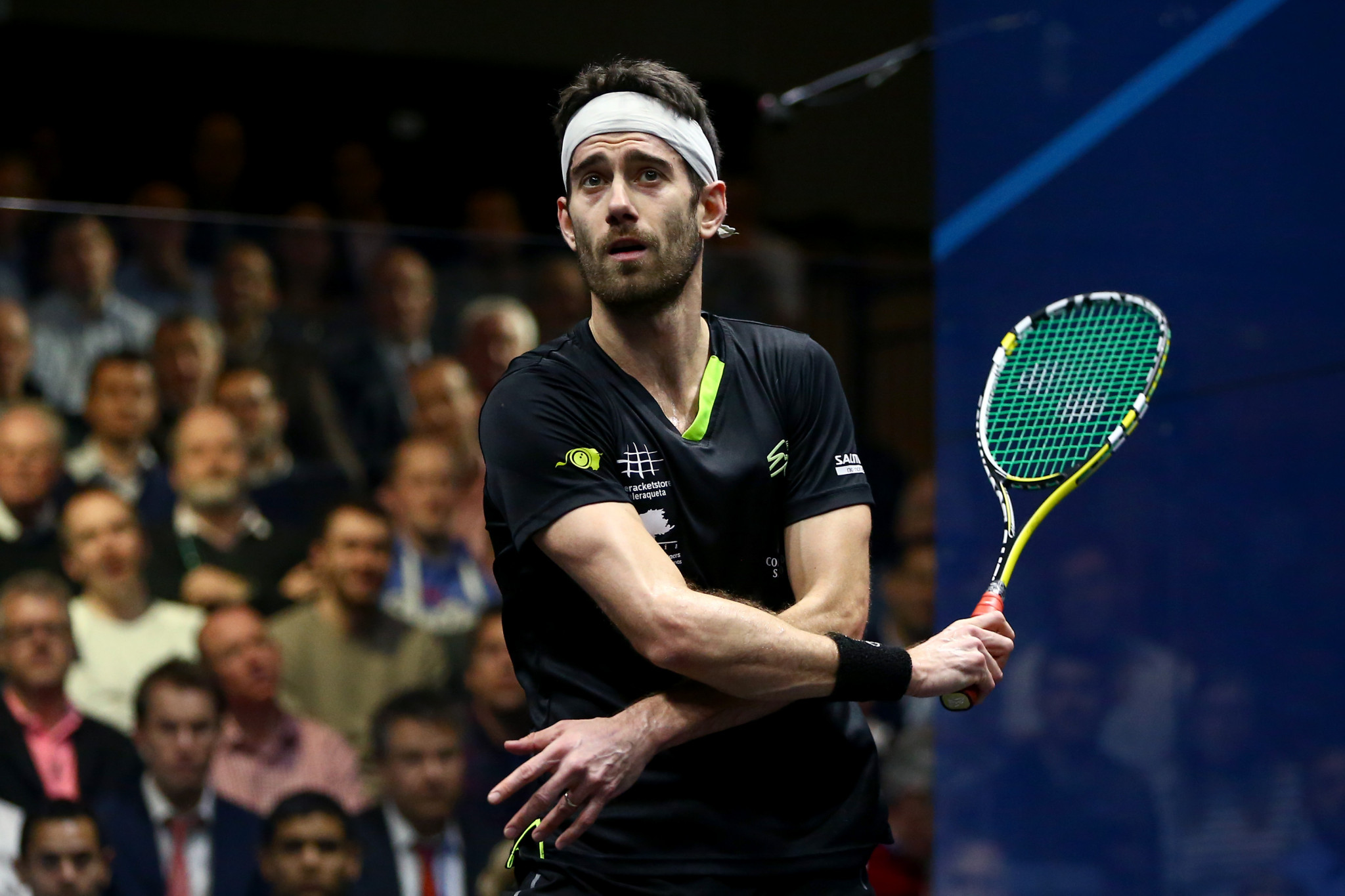 Spain's Borja Golan beat Cameron Pilley in round one and will now play top seed Mohamed Elshorbagy ©Getty Images