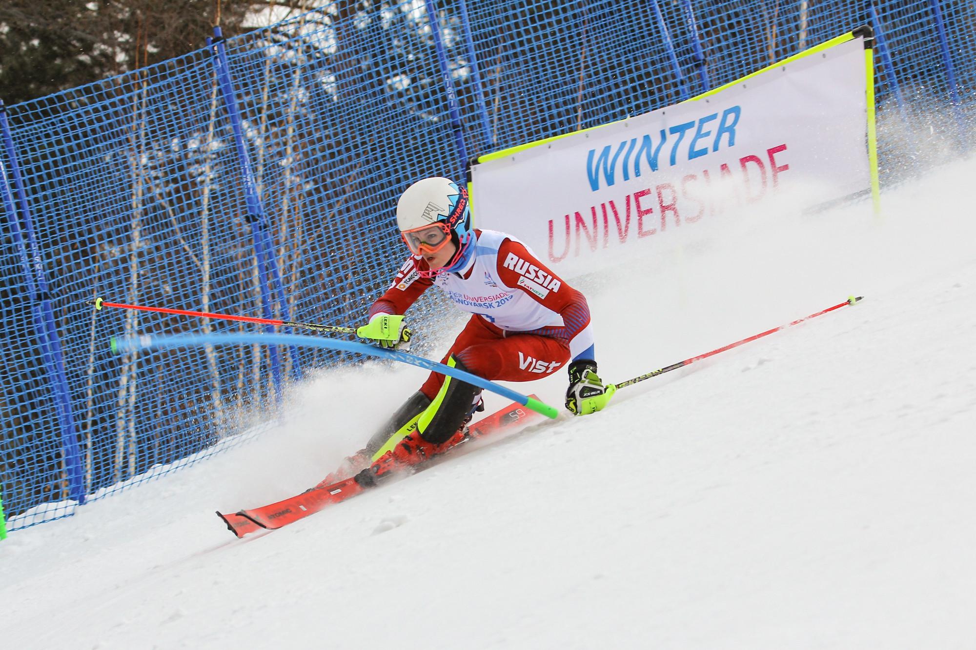 The women's Alpine skiing slalom event also got underway at the Sopka Cluster ©Krasnoyarsk 2019