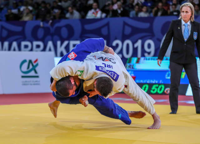 Benjamin Fletcher earned his country's second Grand Prix gold medal with a hard-fought win over openweight World Championships silver medallist Toma Nikiforov of Belgium ©IJF
