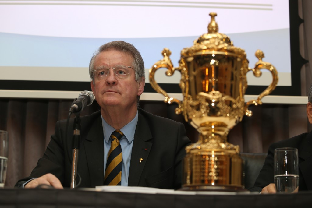 Bernard Lapasset has yet to decide whether to seek a third term next May as World Rugby President ©Getty Images