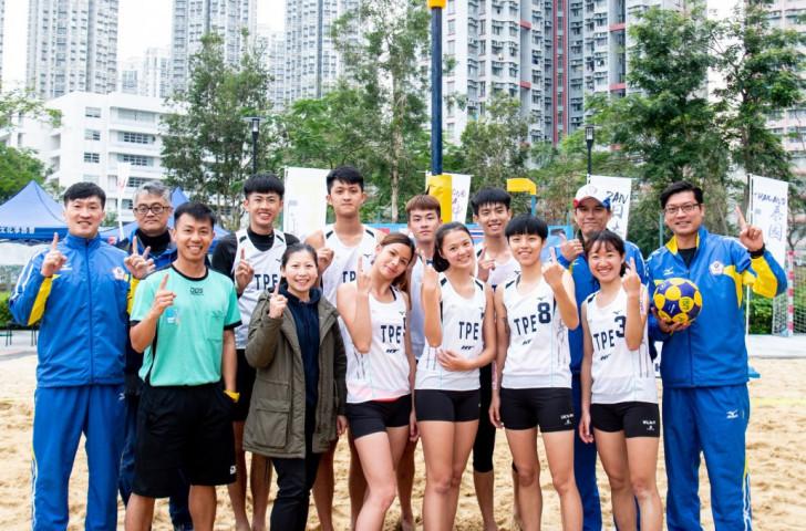 Chinese Taipei were winners of the first IKF Beach Korfball World Cup in Hong Kong ©Hong Kong China Korfball Association