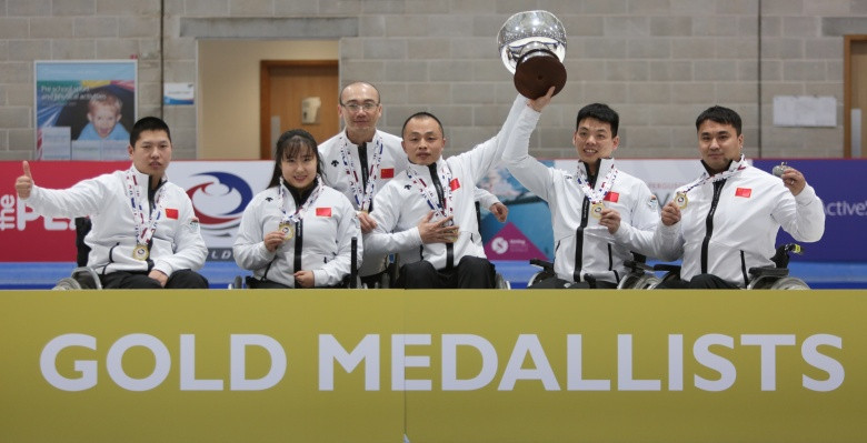 China added the world title to their Paralympic gold medals yesterday ©WCF