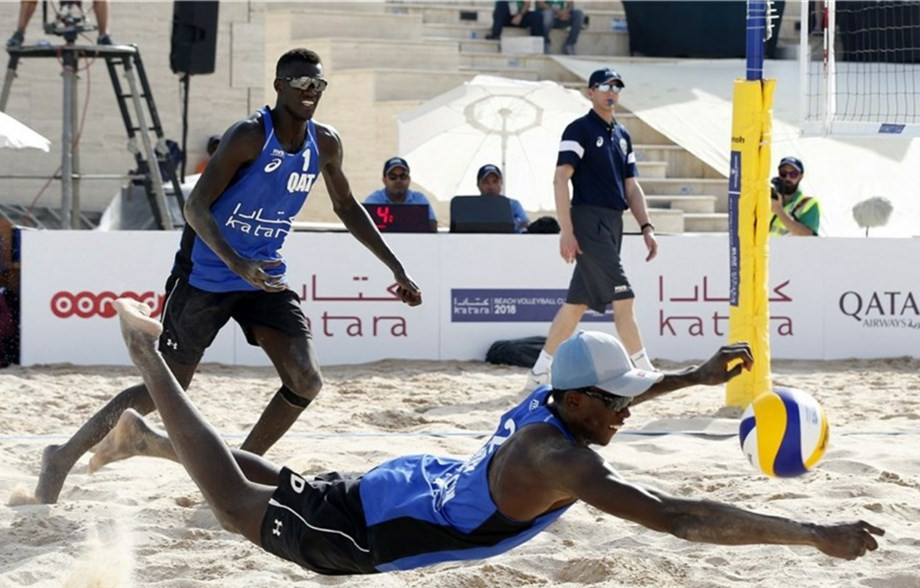 Home pairing Cherif Younousse and Ahmed Tijan will be looking to impress at the FIVB Beach Volleyball World Tour event that starts in Doha tomorrow ©FIVB