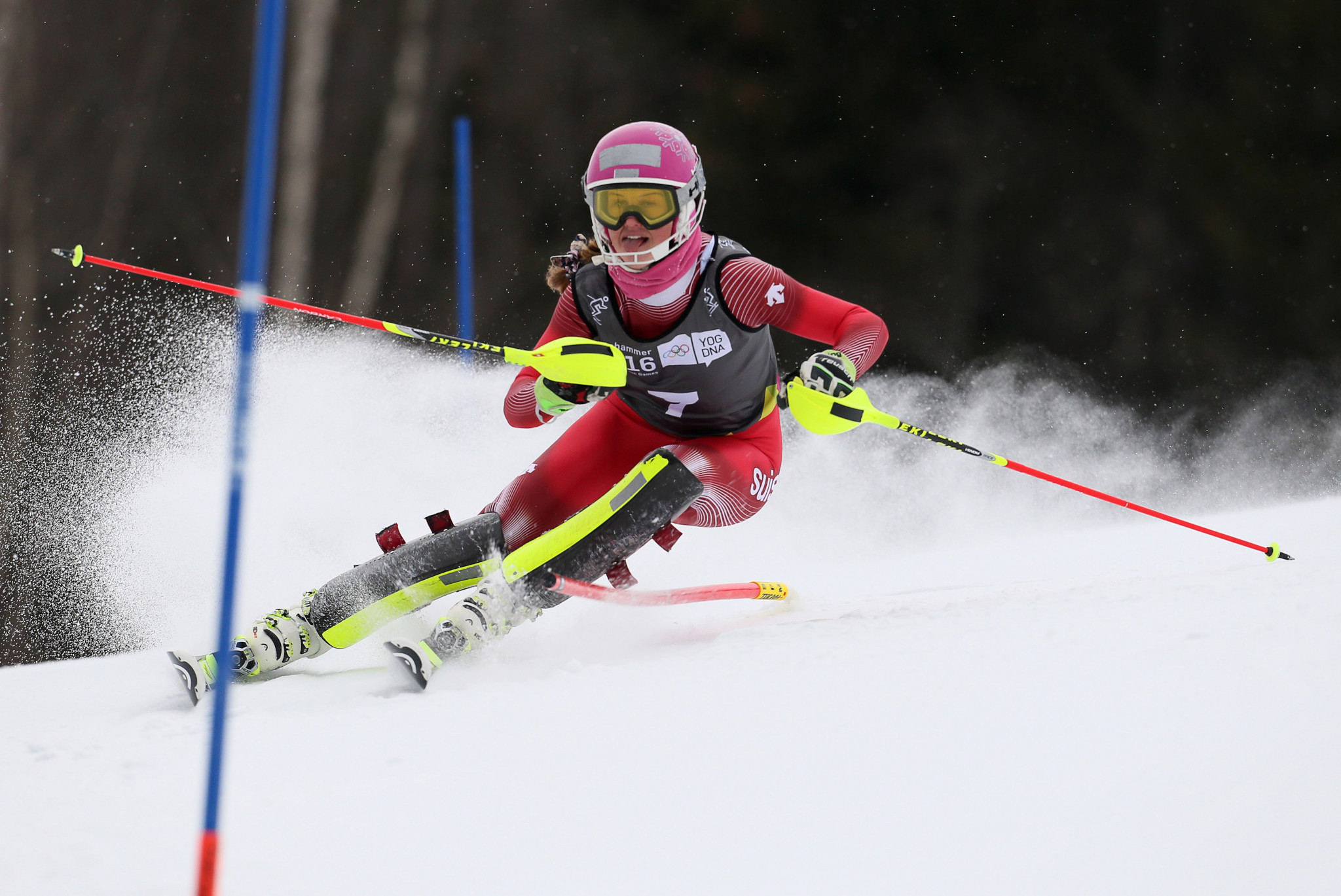 Switzerland's Aline Danioth was one of the best-performing athletes at the Lillehammer 2016 Winter Youth Olympic Games ©Getty Images