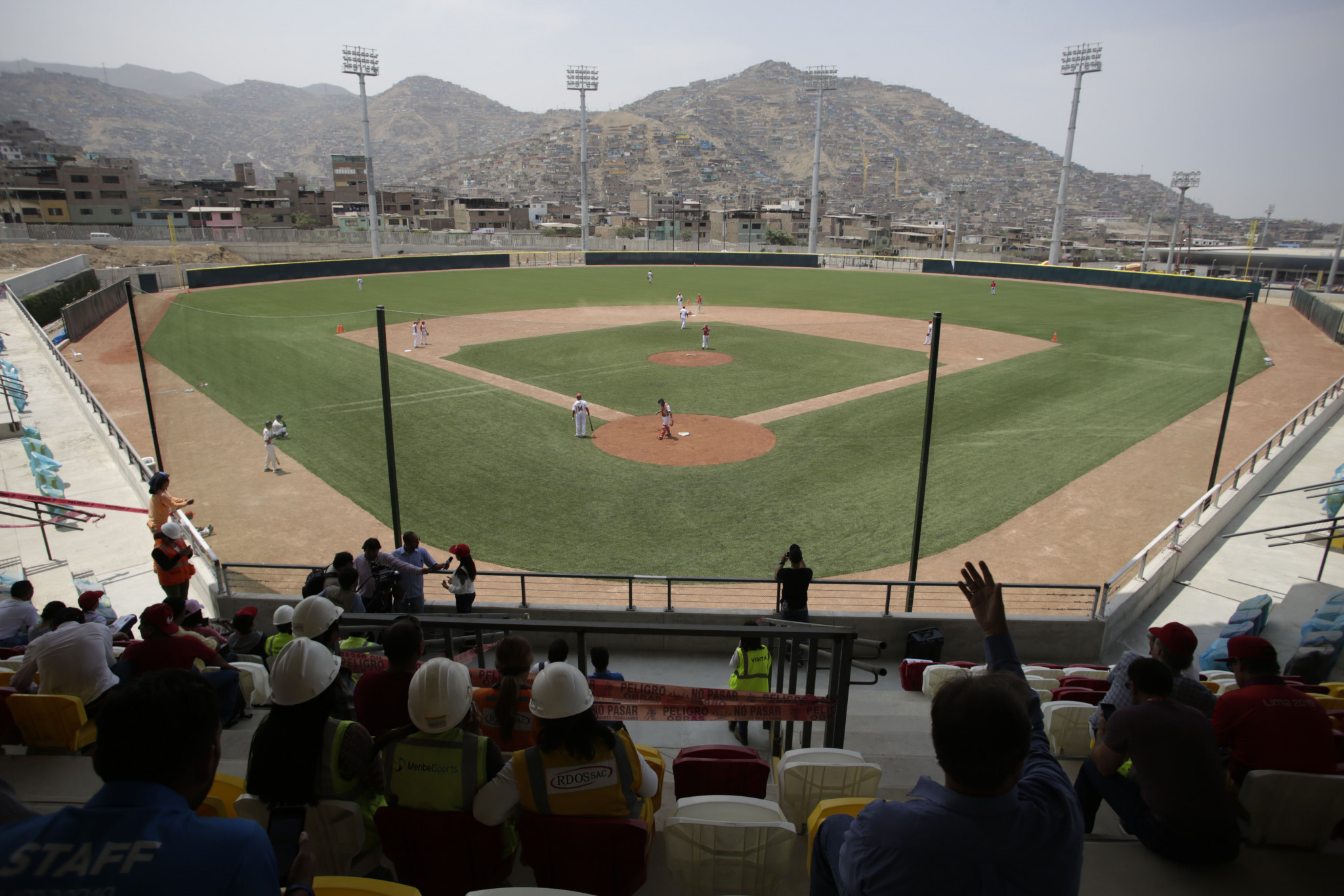 The baseball stadium features a World Baseball Softball Confederation-approved field, changing rooms and seats for 1,800 spectators ©Lima 2019