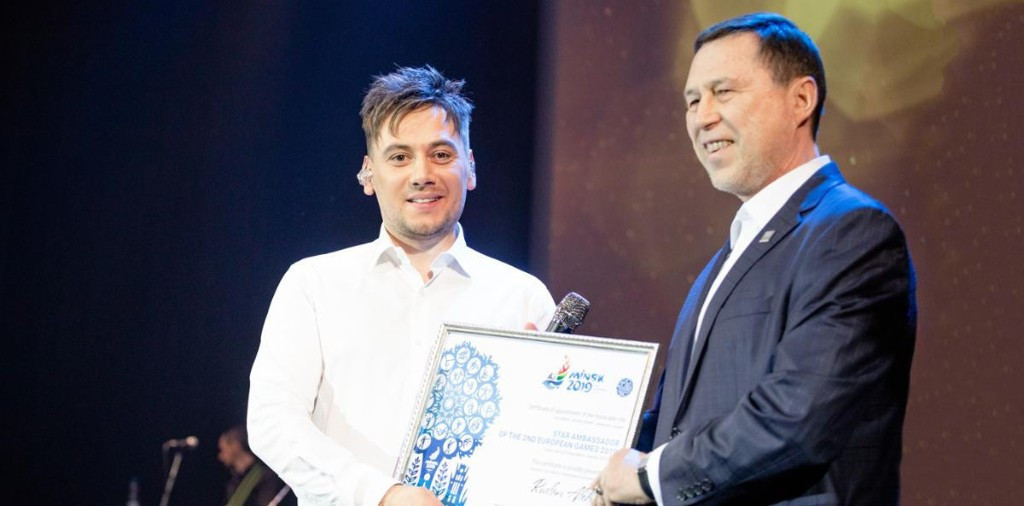 Ruslan Alekhno, a Belarusian pop singer and composer, has been named as the latest star ambassador of the 2019 European Games in Minsk ©Minsk 2019