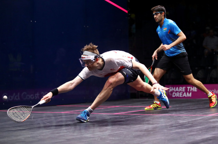 England's James Willstrop made his exit in the second round of the PSA Canary Wharf Classic ©PSA