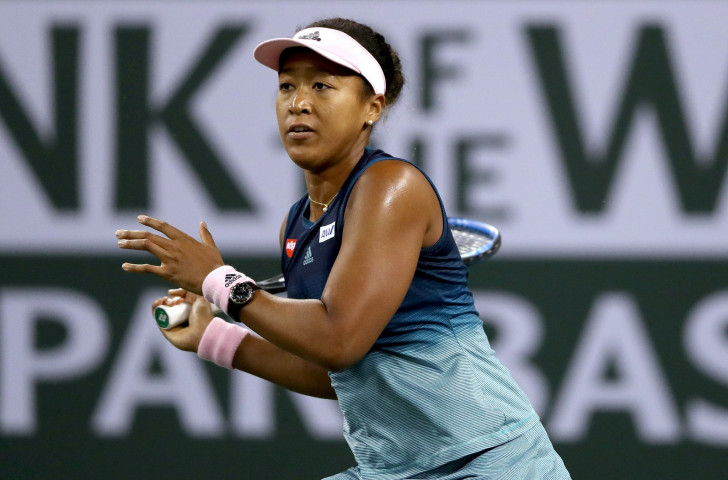 Japan's defending champion Naomi Osaka reached the fourth round at Indian Wells with a straight sets win over Danielle Collins of the United States ©Getty Images