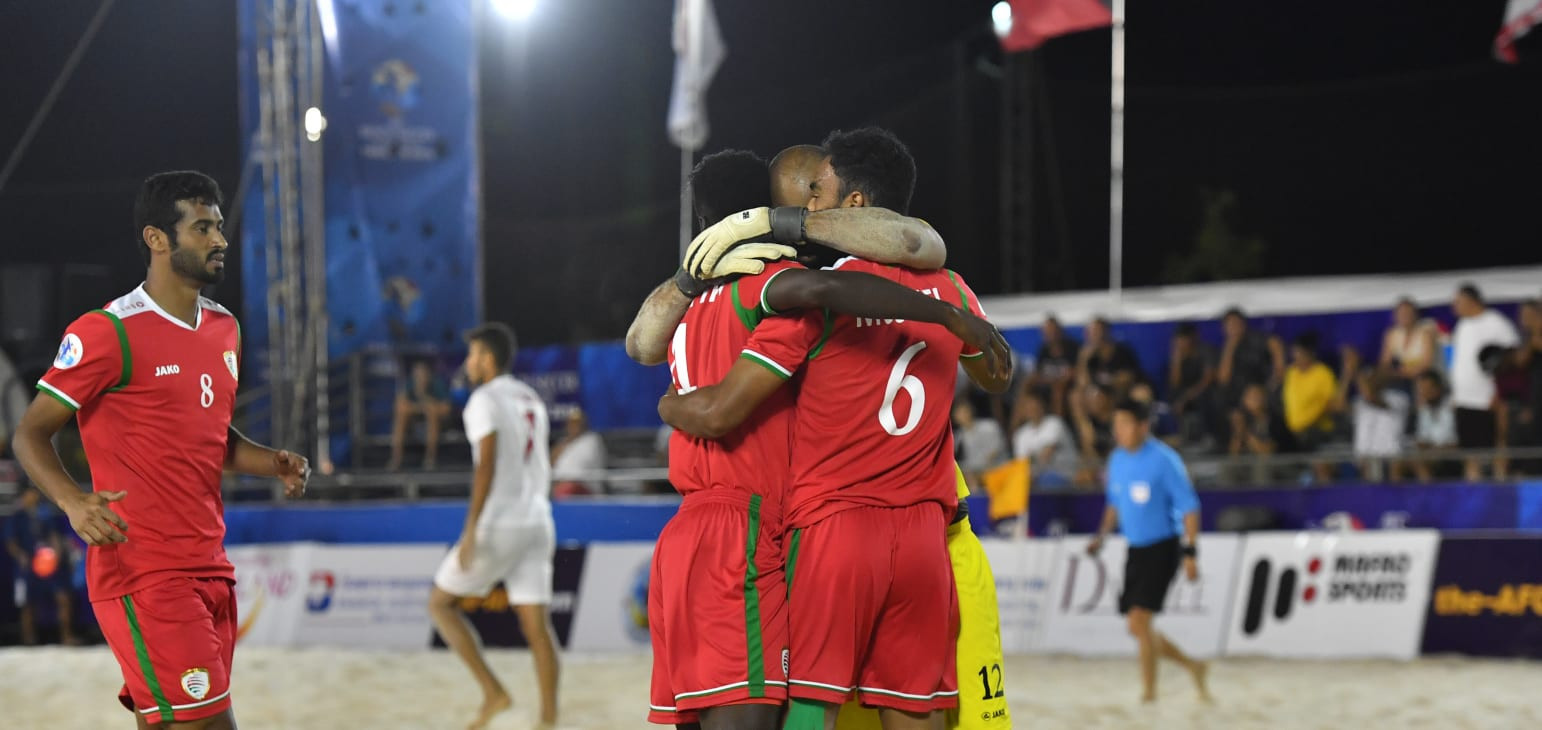 Oman beat holders Iran to secure top spot in Group D at AFC Beach Soccer Championship