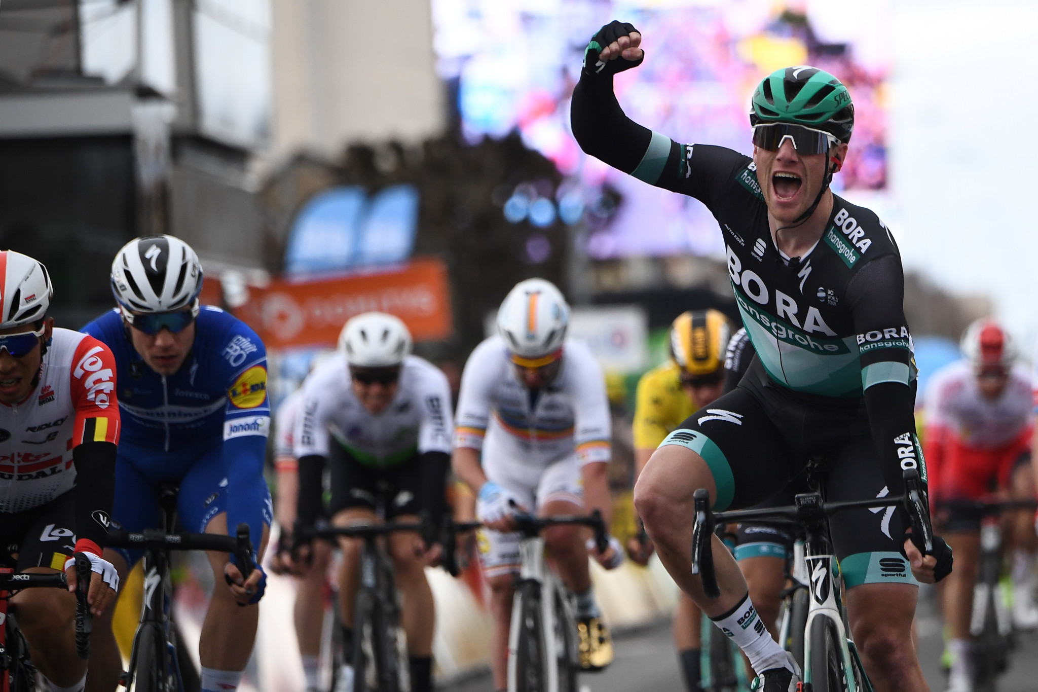 Ireland's Sam Bennett snatched his second stage win in Paris-Nice today after the one clinched two years ago in Chalon-sur-Saone ©Getty Images