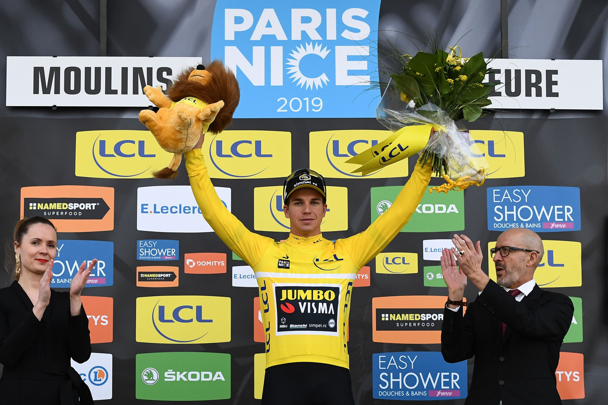 The Netherlands' Dylan Groenewegen has maintained his lead in the general classification ©Getty Images
