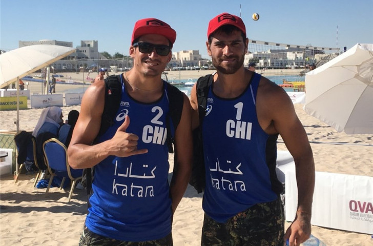 Winners in Sydney on Sunday, Chile's Grimalts have reached the main draw of the FIVB Beach Volleyball World Tour event in Doha ©Getty Images