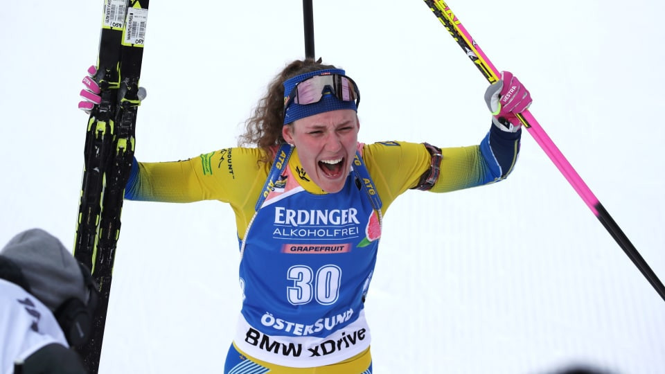 Home favourite Hanna Oeberg claimed her first-ever IBU World Championships gold medal today ©IBU