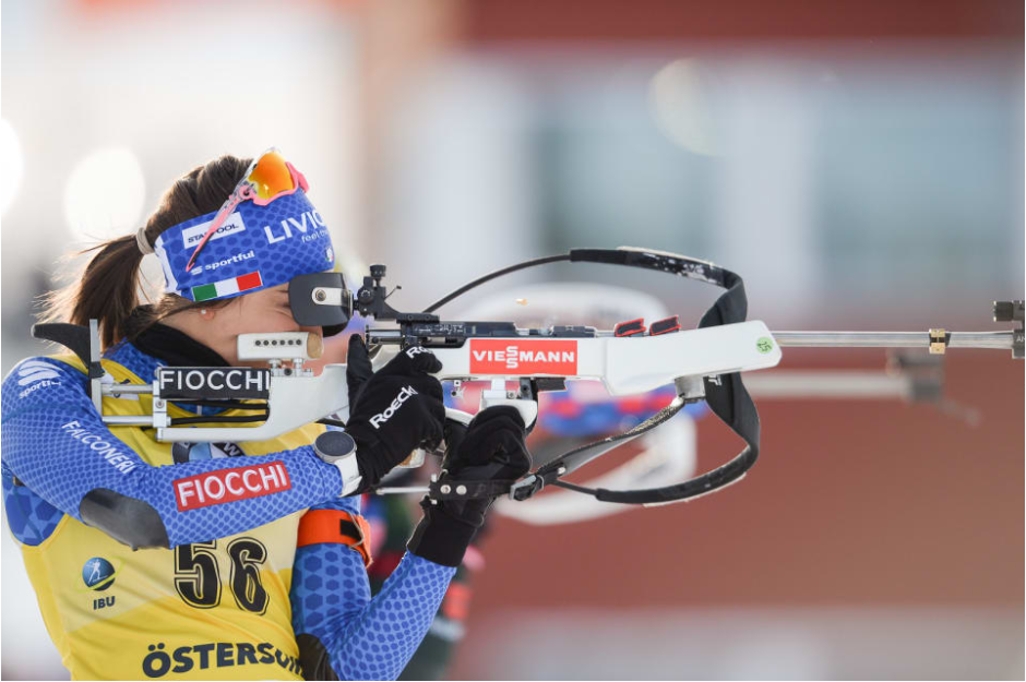 Lisa Vittozzi's silver was the Italian's first-ever individual medal at the IBU World Championships ©IBU