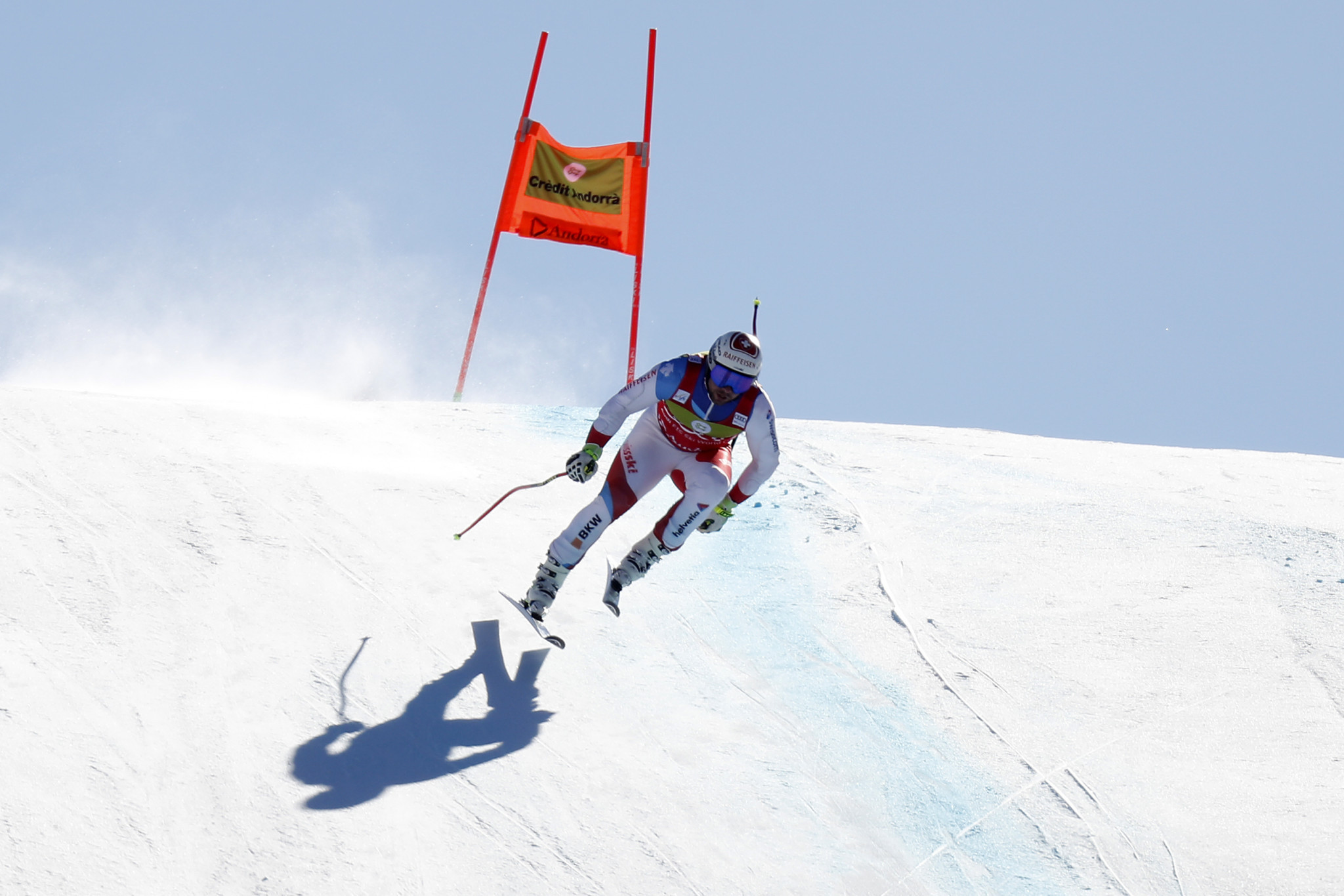 Beat Feuz is closing in on the men's downhill title ©Getty Images