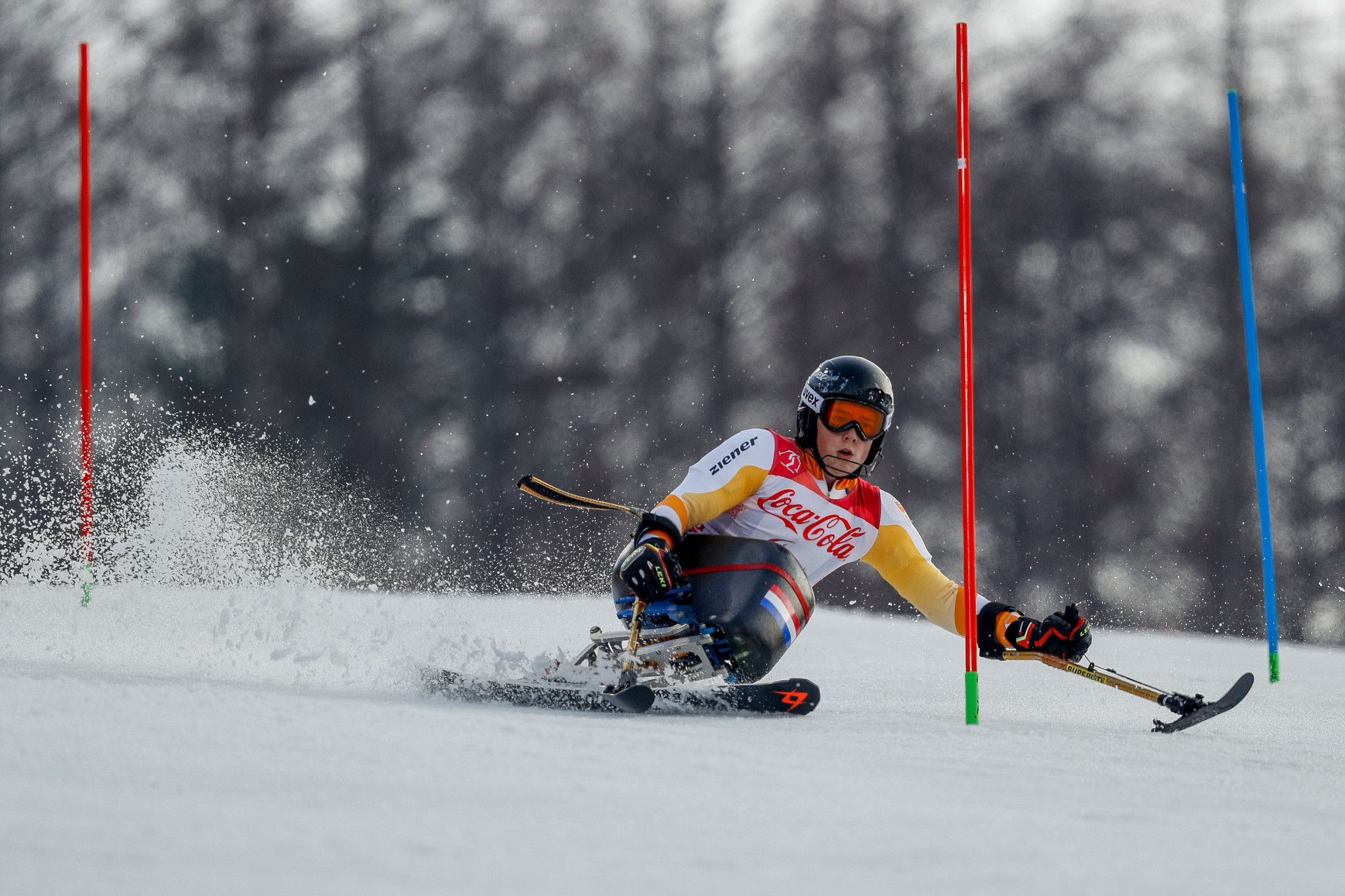 Double world champion Jeroen Kampschreur won the men's sitting event today at the World Para Alpine Skiing World Cup in La Molina in Spain ©Getty Images