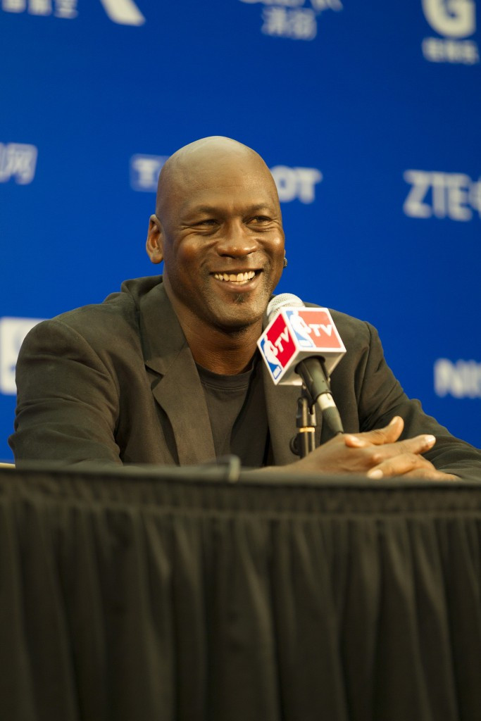 Michael Jordan's high-profile within the NBA has been maintained by his role as owner of the Charlotte Hornets ©Getty Images