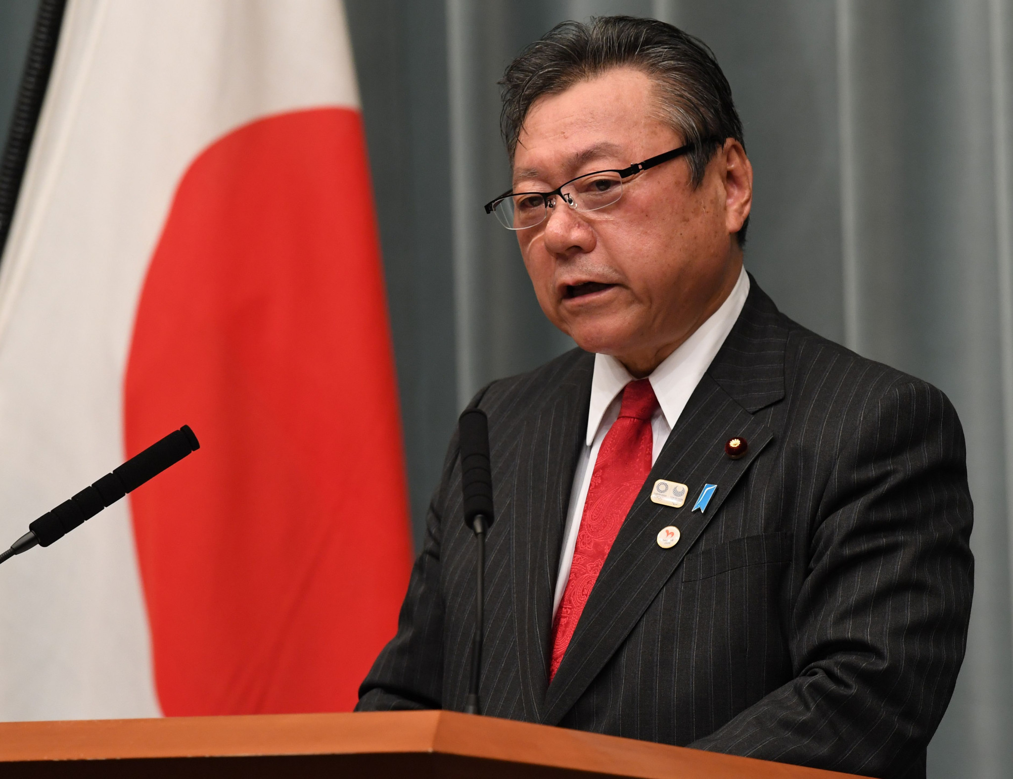 Japan's Olympic Minister Yoshitaka Sakurada said the move to allow North Korean athletes entry to Tokyo 2020 requires the understanding of all quarters ©Getty Images