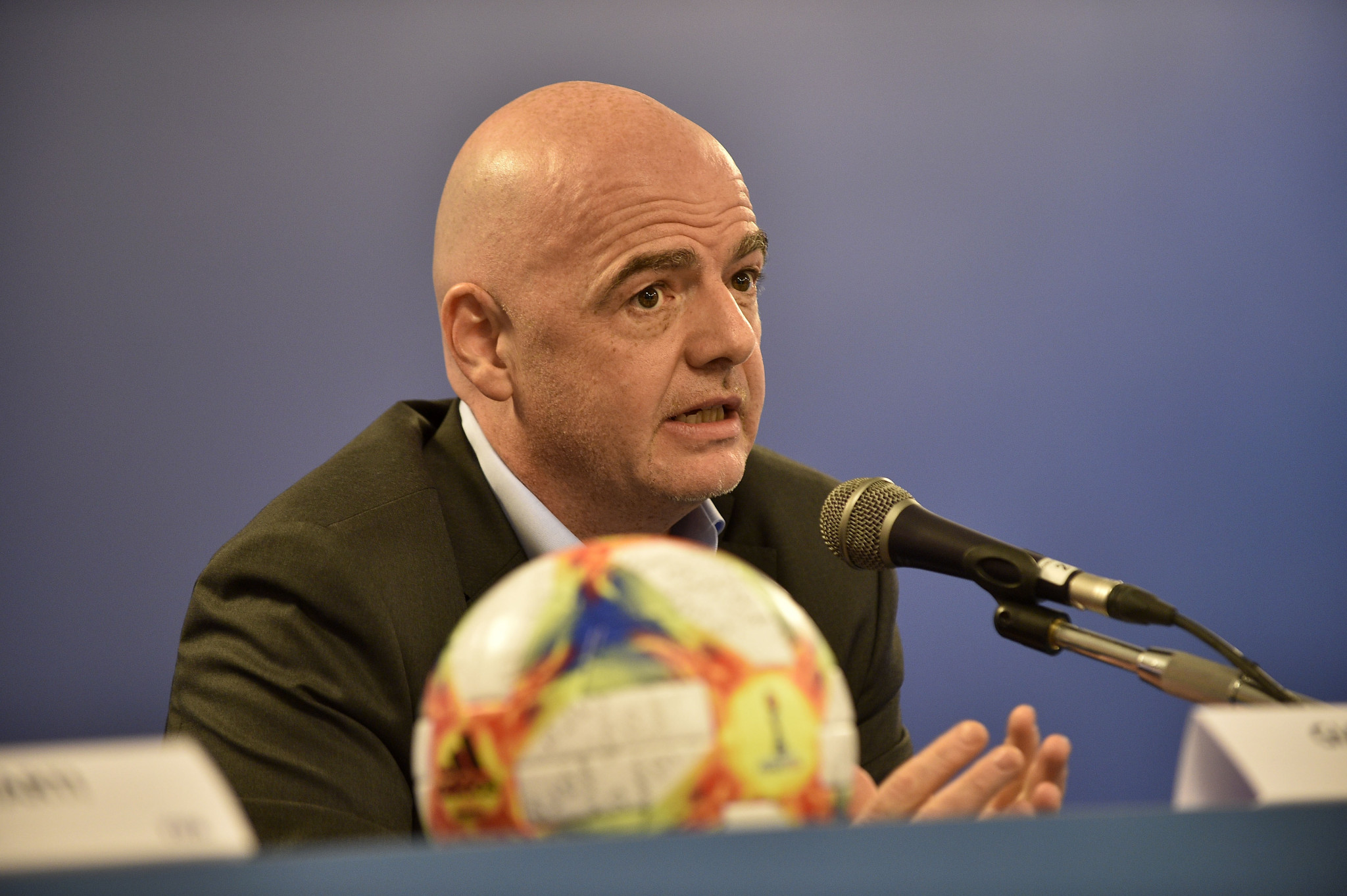 Gianni Infantino is pushing for various expansions with FIFA due for a key meeting in Miami on Friday ©Getty Images