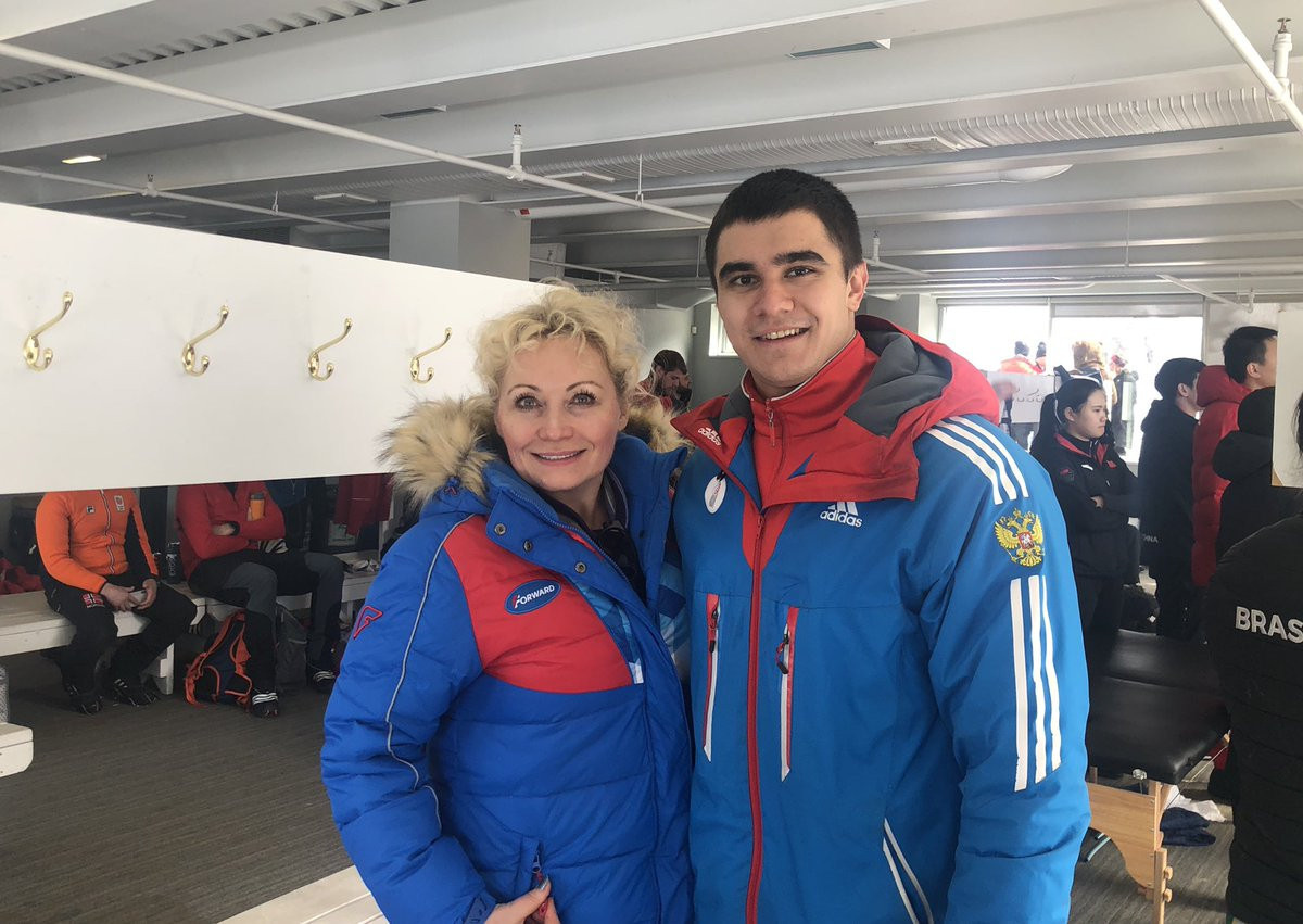 Elena Anikina is the interim President of the Russian Bobsleigh Federation and attended this month's IBSF World Championships in Calgary where Nikita Tregubov won a silver medal in the skeleton ©Twitter