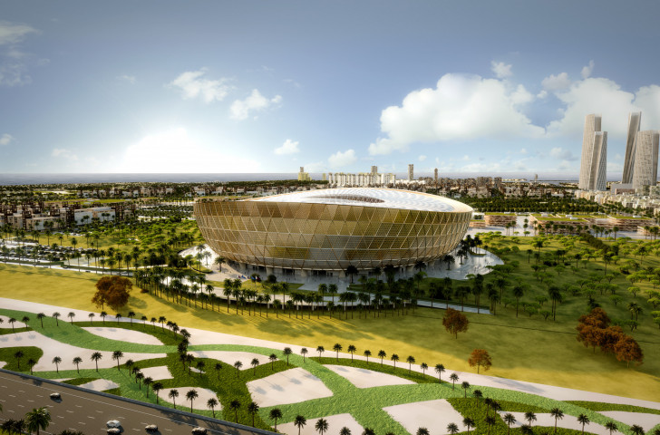 An image showing the design for the 85,000-seater Lusail Stadium, Qatar's proposed venue to host the opening and final games of the 2022 World Cup ©Getty Images