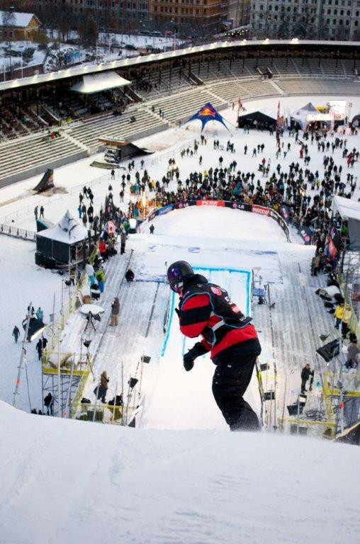 If Stockholm Åre 2026 wins its bid then the Olympic Stadium will host snowboarding ©YouTube