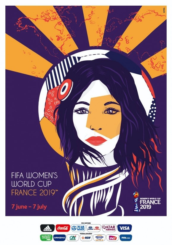 The official poster for the 2019 FIFA Women's World Cup in France has been unveiled at the Galerie Celal in Paris ©FIFA