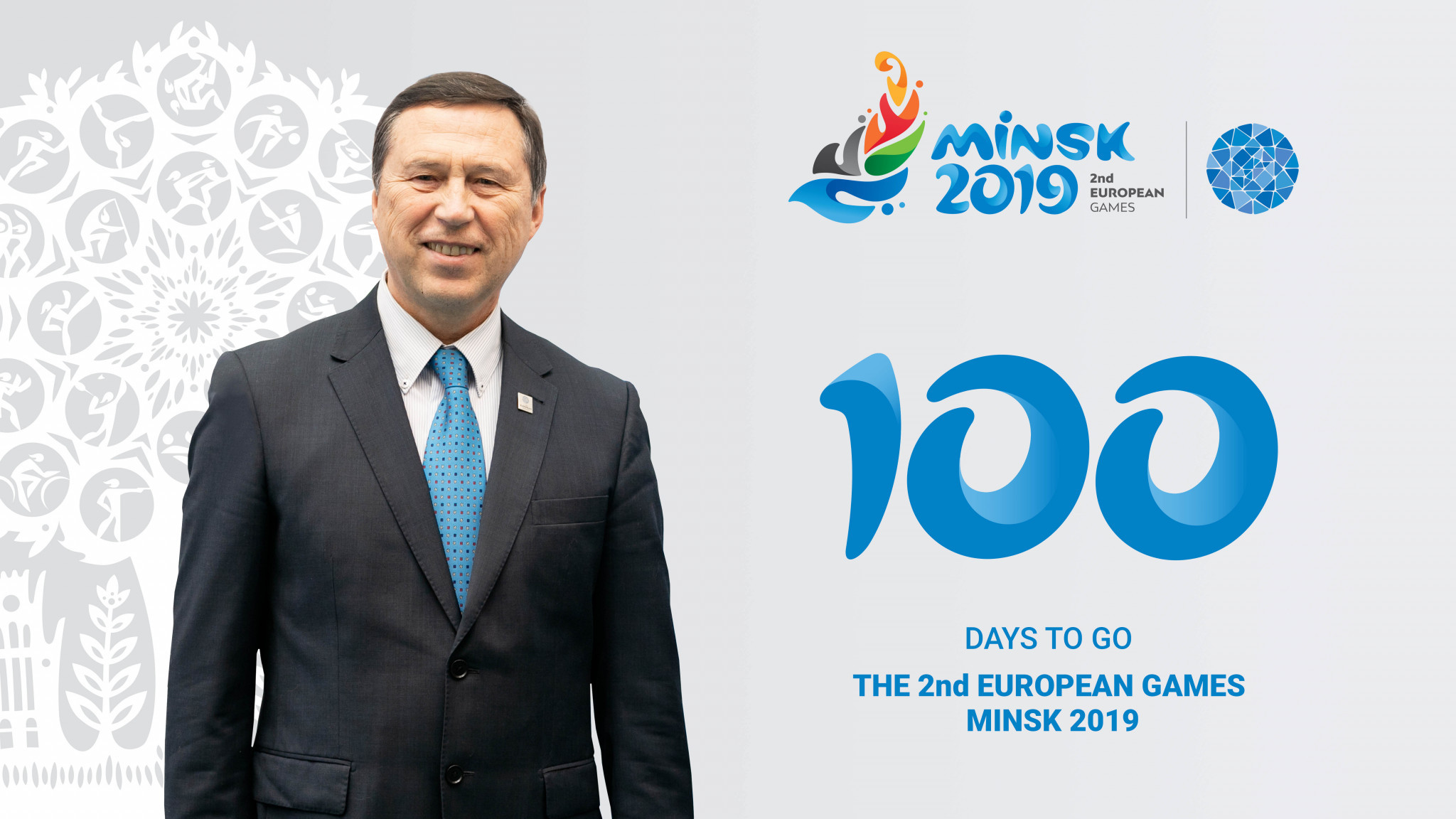 George Katulin and Minsk 2019 have marked 100 days to go ©Minsk 2019