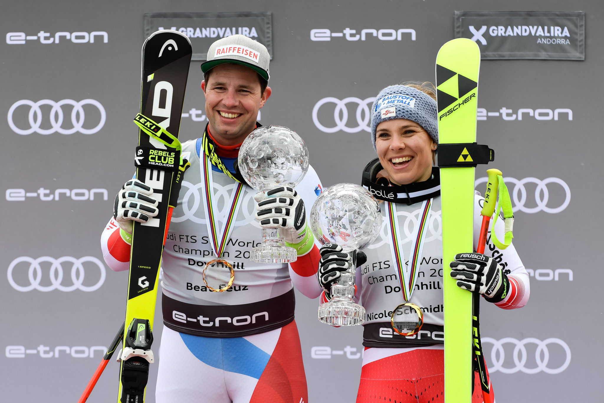 Feuz and Schmidhofer seal overall downhill titles at Alpine Skiing World Cup Finals in Andorra