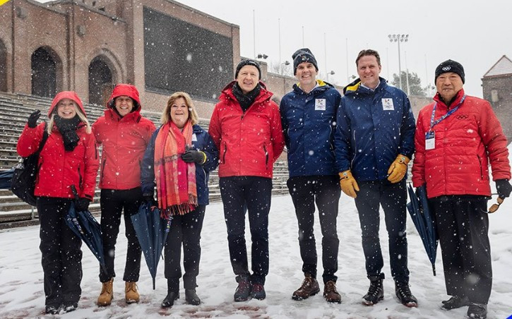 The International Olympic Committee Evaluation Commission has been meeting with officials from Stockholm IOC Evaluation Commission begin inspecting Stockholm Åre 2026 ©Stockholm Åre 2026