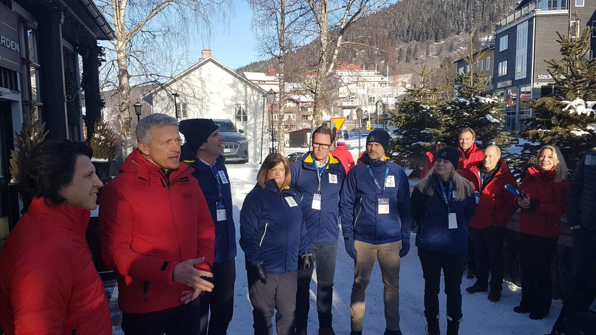 The IOC Evaluation Commission had begun their inspection tour 600 kilometres from Stockholm in Åre, where downhill skiing would be held ©IOC