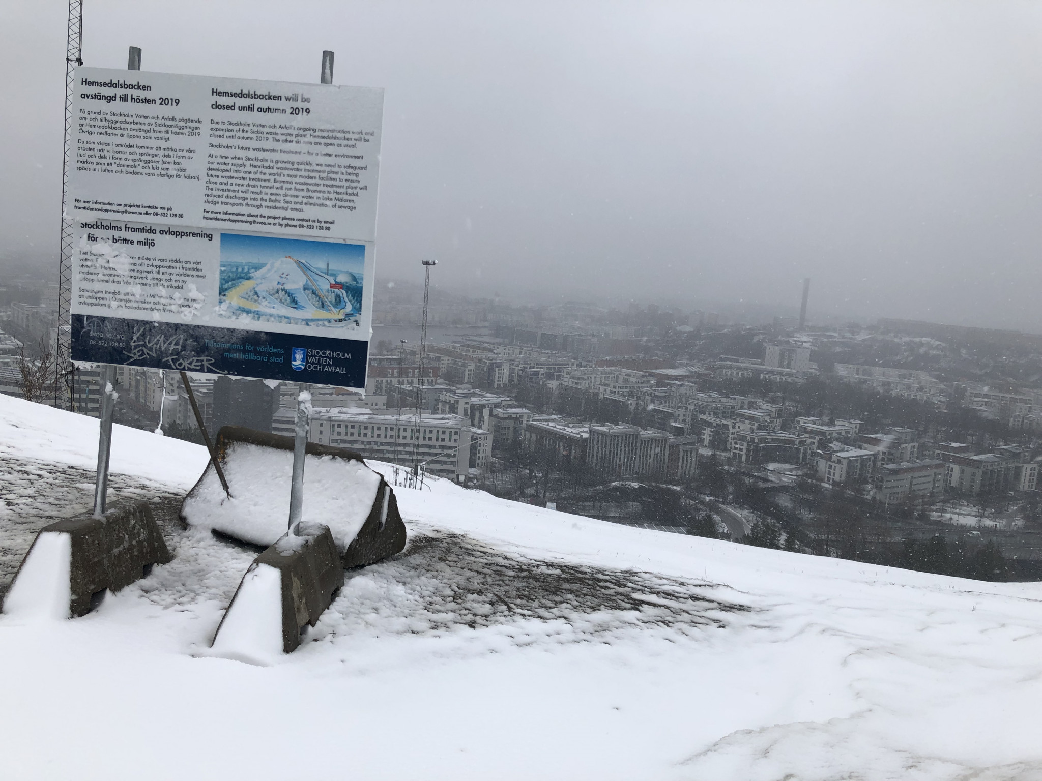 There are great views of Stockholm from Hammarbybacken, the proposed site for parallel team Alpine skiing ©ITG