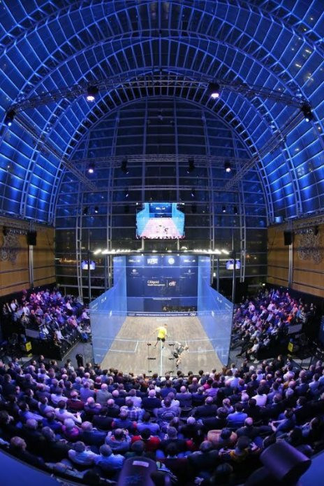 Despite upsets at the PSA Canary Wharf Classic this week, defending champion Mohamed Elshorbagy has moved safely through to tomorrow's semi-finals ©PSA