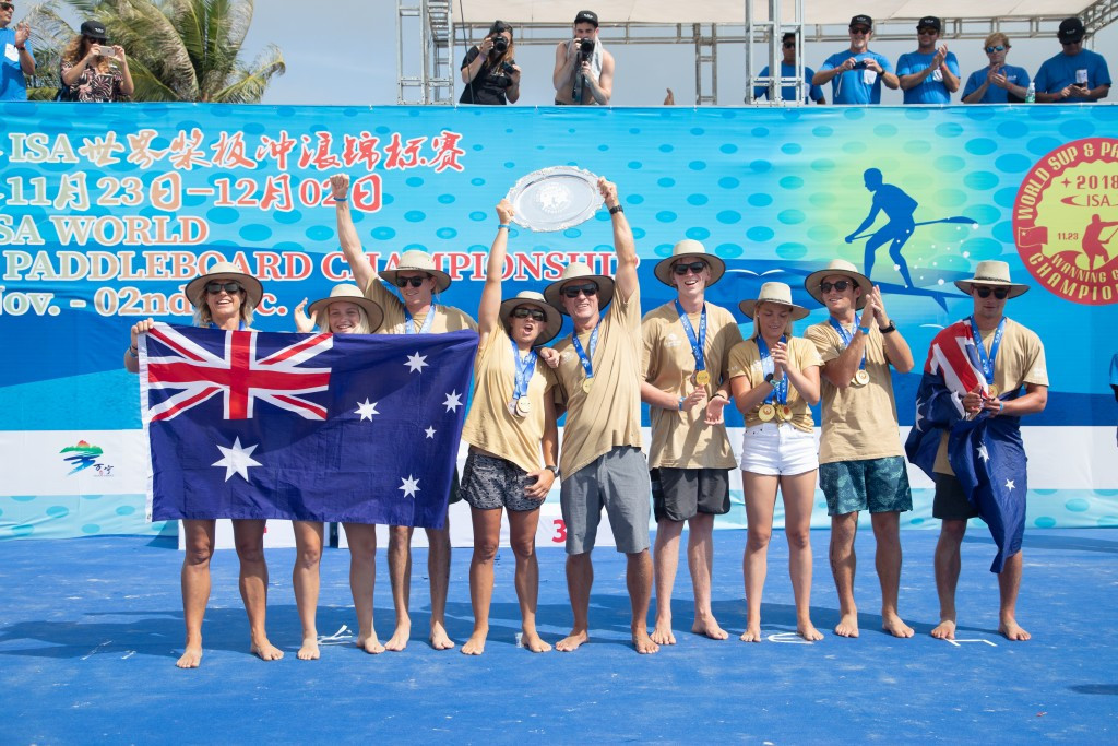 Australia won the overall title at the ISA's World Championships in December ©ISA