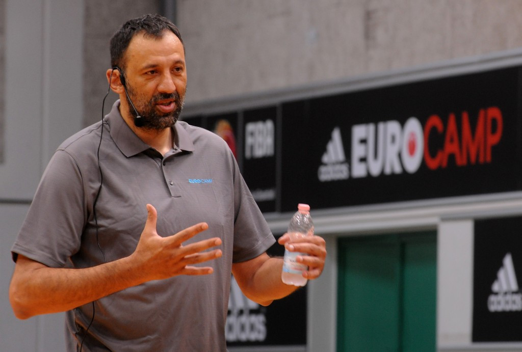 Former NBA star and Olympic silver medallist Vlade Divac of Serbia chairs the FIBA Players' Commission