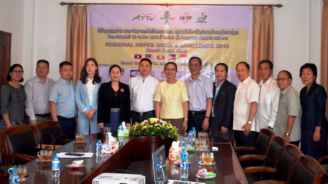 National Olympic Committee of Laos promotes table tennis development