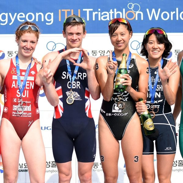 Sharp and Sato secure maiden ITU World Cup wins in Tongyeong